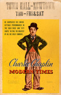 Movie Posters:Comedy, Modern Times (United Artists, 1936). Fine. Window ...