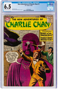 The New Adventures of Charlie Chan #1 (DC, 1958) CGC FN+ 6.5 Cream to light tan pages