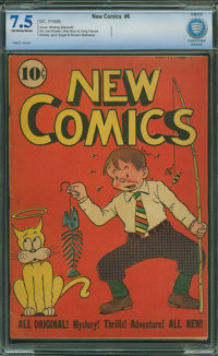 New Comics #6 - CBCS CERTIFIED (DC, 1936) CGC VF- 7.5 Off-white to white pages