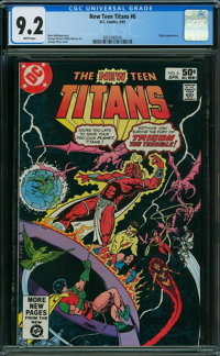 New Teen Titans #6 (DC, 1981) CGC NM- 9.2 White pages