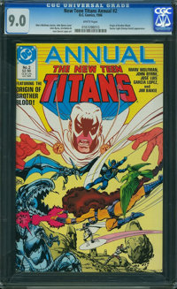 New Teen Titans Annual #2 (DC, 1986) CGC VF/NM 9.0 White pages