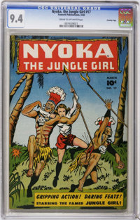 Nyoka the Jungle Girl #17 - CROWLEY PEDIGREE (Fawcett Publications, 1948) CGC NM 9.4 Cream to off-white pages