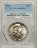 Franklin Half Dollars, 1950 50C MS66 Full Bell Lines PCGS. PCGS Population: (324/24). NGC Census: (56/3). CDN: $375 Whsle. Bid for NGC/PCGS MS66. ...