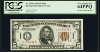Fr. 2301 $5 1934 Mule Hawaii Federal Reserve Note. PCGS Very Choice New 64PPQ