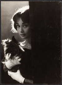 """Audrey Hepburn in Love in the Afternoon (Allied Artists, 1957). Very Fine-. Portrait Photo (9.25"""" X 12.75""""). R..."""