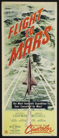 "Movie Posters:Science Fiction, Flight to Mars (Monogram, 1951). Insert (14"" X 36"") and MexicanLobby Card (12.5"" X 16.5""). Science Fiction. Starring Margue...(Total: 2 Items)"