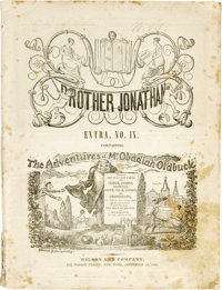 The Adventures of Mr. Obadiah Oldbuck - First Printing - Brother Jonathan Extra IX Bookstand Edition (Wilson and Company...