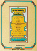 """Music Memorabilia:Posters, Fillmore East """"Final Concerts"""" Poster, FME-011, Signed by theArtist (Bill Graham, 1971) The final month of shows at New Yor..."""