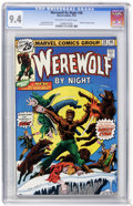 Bronze Age (1970-1979):Horror, Werewolf by Night #38 (Marvel, 1976) CGC NM 9.4 Off-white to whitepages....