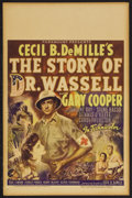 "Movie Posters:War, The Story of Dr. Wassell (Paramount, 1944). Window Card (14"" X22""). Drama. Starring Gary Cooper, Laraine Day, Signe Hasso, ..."
