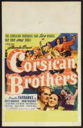 "Movie Posters:Adventure, The Corsican Brothers (United Artists, 1941). Window Card (14"" X22""). Adventure. Starring Douglas Fairbanks, Jr., Ruth Warr..."