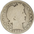Barber Quarters: , 1901-S 25C AG3 PCGS. In an era when collecting by mintmark meantlittle or nothing to the few Americans who had taken up th...