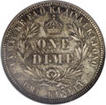Coins of Hawaii: , 1883 10C Hawaii Ten Cents MS65 NGC. Autumn-brown and ice-bluecongregate embrace this well struck and prooflike Gem. The gl...