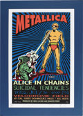 Music Memorabilia:Posters, Metallica Blacklight Velodrome Field Concert Artist-Signed Poster,79/400 (T.A.Z., 1994). Artist Jim Evans and the T.A.Z. ar...