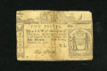 Colonial Notes:New York, New York February 16, 1771 £5 Fine. This note was cut in half andrepaired with contemporary materials. The right-hand edge...