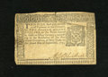Colonial Notes:New York, New York September 2, 1775 $2 Extremely Fine. A center fold isfound on this note that has a large repaired upper right-hand...