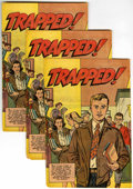Golden Age (1938-1955):Non-Fiction, Trapped! #nn Group (Harvey, 1951) Condition: Average VG/FN....(Total: 13)