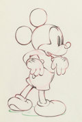 Animation Art:Production Drawing, Society Dog Show Mickey Mouse Animat...