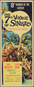 Movie Posters:Fantasy, The 7th Voyage of Sinbad (Columbia, 1958). Folded, Very Fi...