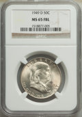Franklin Half Dollars, 1949-D 50C MS65 Full Bell Lines NGC. NGC Census: (233/9). PCGS Population: (888/107). CDN: $200 Whsle. Bid for NGC/PCGS MS6...