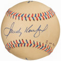 "Autographs:Baseballs, Sandy Koufax Single Signed Special Edition ""Dem Bums"" Base..."