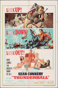 """Thunderball (United Artists, 1965). Folded, Fine. One Sheet (27"""" X 41"""") Jetpack Style. Frank McCarthy and Robe..."""