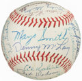 Autographs:Baseballs, 1968 Detroit Tigers Team Signed Baseball. Offered ...