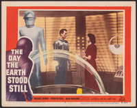 "The Day the Earth Stood Still (20th Century Fox, 1951). Very Fine-. Lobby Card (11"" X 14""). Science Fiction..."