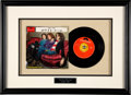 """Music Memorabilia:Autographs and Signed Items, Cream Signed """"White Room"""" 7"""" Single Matted and Framed (Polydor, DP-1601)...."""