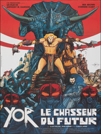 """Yor, the Hunter from the Future (P.M. Productions, 1983). Folded, Very Fine+. French Grande (46"""" X 64""""). Scien..."""