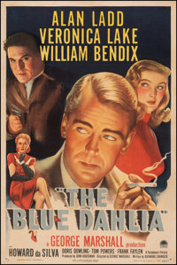 "The Blue Dahlia (Paramount, 1946). Fine/Very Fine on Linen. One Sheet (27"" X 41""). Film Noir"