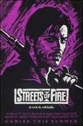 """Movie Posters:Action, Streets of Fire (Universal, 1984). Rolled, Very Fine-. One Sheet (27"""" X 41"""") Advance, Purple Style. Action.. ..."""