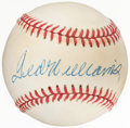 Autographs:Baseballs, Ted Williams Single Signed Baseball. Offered is th...