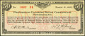 Obsoletes By State:Rhode Island, Providence, RI- Providence Clearing House Certificate $50 Mar. 8, 1933 Shafer RI150-50c Extremely Fine-About Uncirculated....