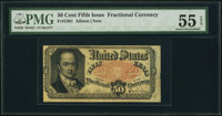 Fr. 1381 50¢ Fifth Issue PMG About Uncirculated 55 EPQ