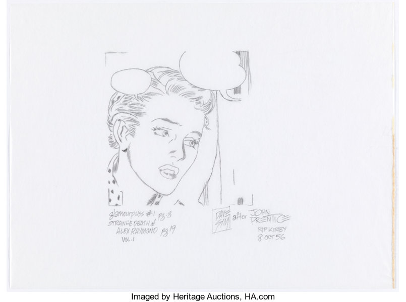 Original Comic Art:Panel Pages, Dave Sim glamourpuss #1 Partial Page 8 Illustration Rip Kirby ...
