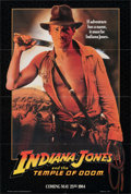 "Movie Posters:Adventure, Indiana Jones and the Temple of Doom (Paramount, 1984). Folded, Very Fine. One Sheet (26.75"" X 40"") Advance, ""Adventure"" Sty..."