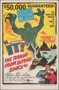 """Movie Posters:Science Fiction, It! The Terror from Beyond Space (United Artists, 1958). Folded, Very Fine. One Sheet (27"""" X 41""""). Science Fiction.. ..."""