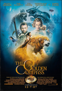 "The Golden Compass (New Line, 2007). Rolled, Overall: Fine/Very Fine. One Sheets (4) (27"" X 41"") DS Advance, 4..."