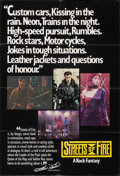 "Movie Posters:Action, Streets of Fire (Universal, 1984). Folded, Very Fine-. British One Sheet (27"" X 40""). Action.. ..."