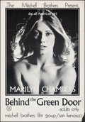 """Movie Posters:Adult, Behind the Green Door (Mitchell Brothers Film Group, 1972). Folded, Fine+. Poster (25"""" X 36""""). Adult.. ..."""