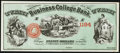 Hartford, CT- Hannums Hartford Business College/Business College Bank $20 Aug. 1877 Schingoethe CT-200-20 Remainder Choi...
