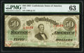 Confederate Notes:1863 Issues, T57 $50 1863 PF-5 Cr. 410 PMG Choice Uncirculated 63.. ...