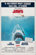 Movie Posters:Horror, Jaws (Universal, R-1979). Folded, Very Fine. One S...