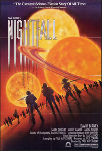 """Nightfall (Concorde, 1988). Folded, Very Fine. One Sheets (10) Identical (27"""" X 40""""). Science Fiction. ... (To..."""