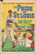 """Movie Posters:Sports, The Pride of St. Louis (20th Century Fox, 1952). Folded, Fine+. One Sheet (27"""" X 41""""). Sports.. ..."""