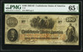 Confederate Notes:1862 Issues, T41 $100 1862 PF-6 Cr. 319 PMG Gem Uncirculated 65 EPQ.. ...