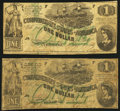 Confederate Notes:1862 Issues, T45 $1 1862 PF-1 Cr. 342A; PF-2 Cr. 342 Very Good or Better.. ... (Total: 2 notes)
