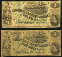 T45 $1 1862 PF-1 Cr. 342A; PF-2 Cr. 342 Very Good or Better. ... (Total: 2 notes)