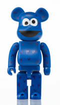 Collectible, BE@RBRICK X Sesame Street. Cookie Monster 400%, 2016. Painted cast vinyl. 10-1/2 x 5-1/4 x 4-1/4 inches (26.7 x 13.3 x 1...